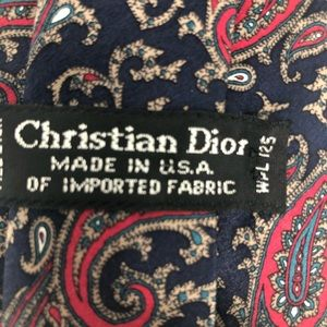 Dior Accessories - Christian Dior All Silk Paisley Tie